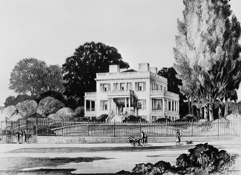 Illustration of Alexander Hamilton's Grange estate