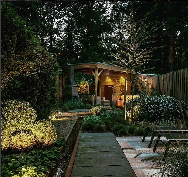 Example of In-lite Design landscape design from Instagram
