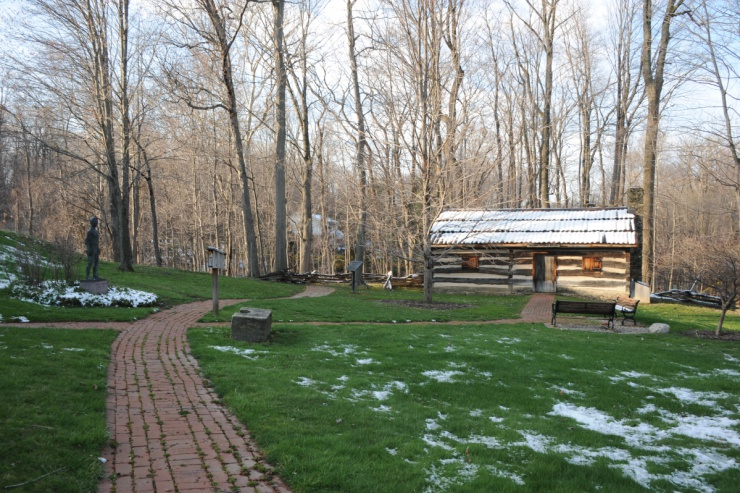 Replica of President Garfield's log cabin birthplace