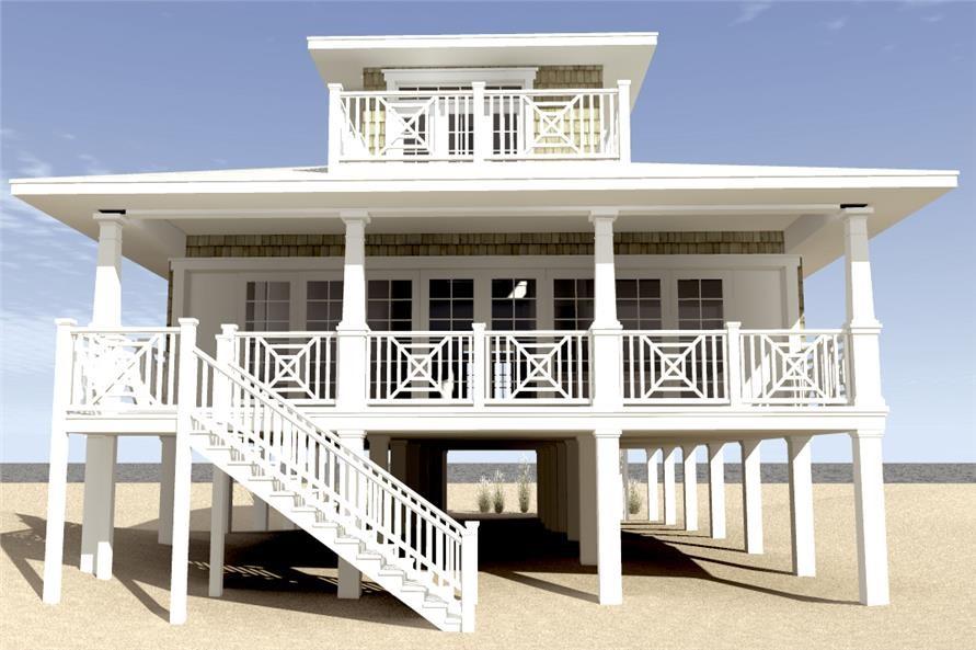 Beachfront style house plan #116-1003