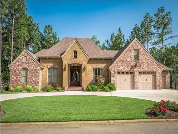 Charming 1-story, 3-bedroom, 2-bath French Country style home in brick