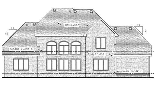 Elevation of Country style home  plan #120-2176
