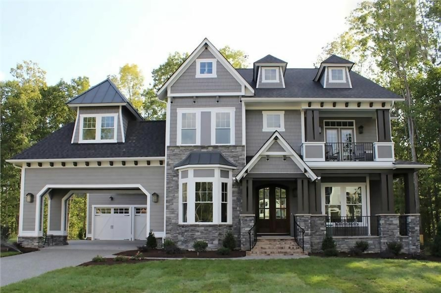 Amazing, luxurious Country style home with Arts & Crafts style accents
