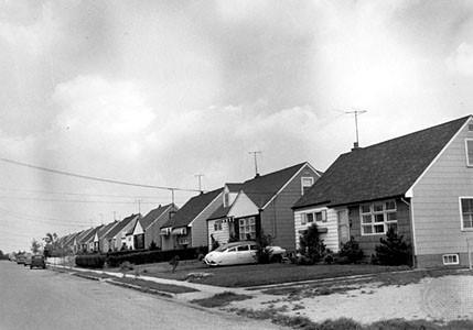 Post-WWII housing development for returning GIs