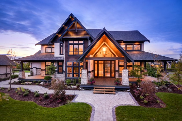 2-story Transitional style home with Craftsman influences
