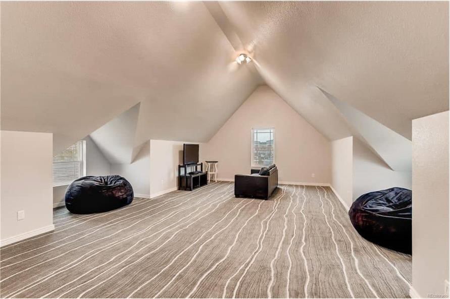 Large bonus room with vaulted ceiling and plenty of room to expand