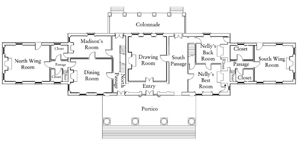 Southern style plantation home designs president james for Madison house plan