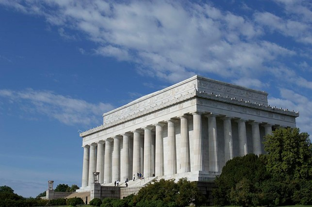 Lincoln Memorial in Washington, D.C., inspired by the Greek Parthenon
