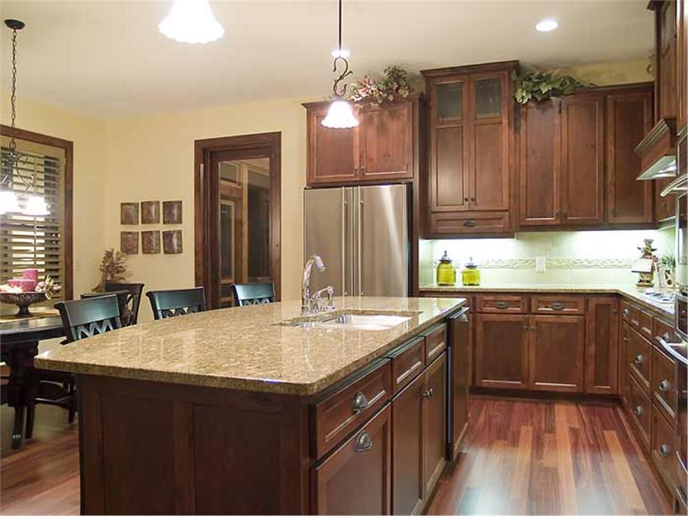 Open kitchen in house plan #109-1056