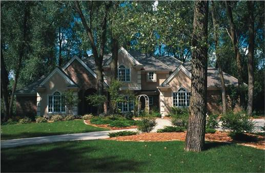 5-Bedroom, 4501 Sq Ft Country Plan with Hearth Room # 153-1121