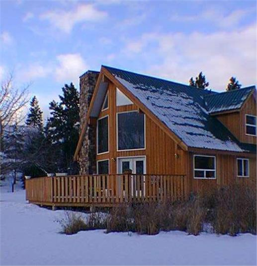 Get in tune with nature in a mountain style home for A frame mountain house plans
