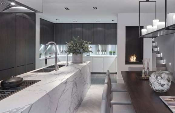 State-of-the-art kitchen in the beautiful Regency Townhouse in Eaton Square, London.