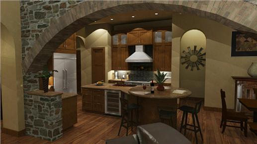 Kitchen/snack bar/breakfast nook areas