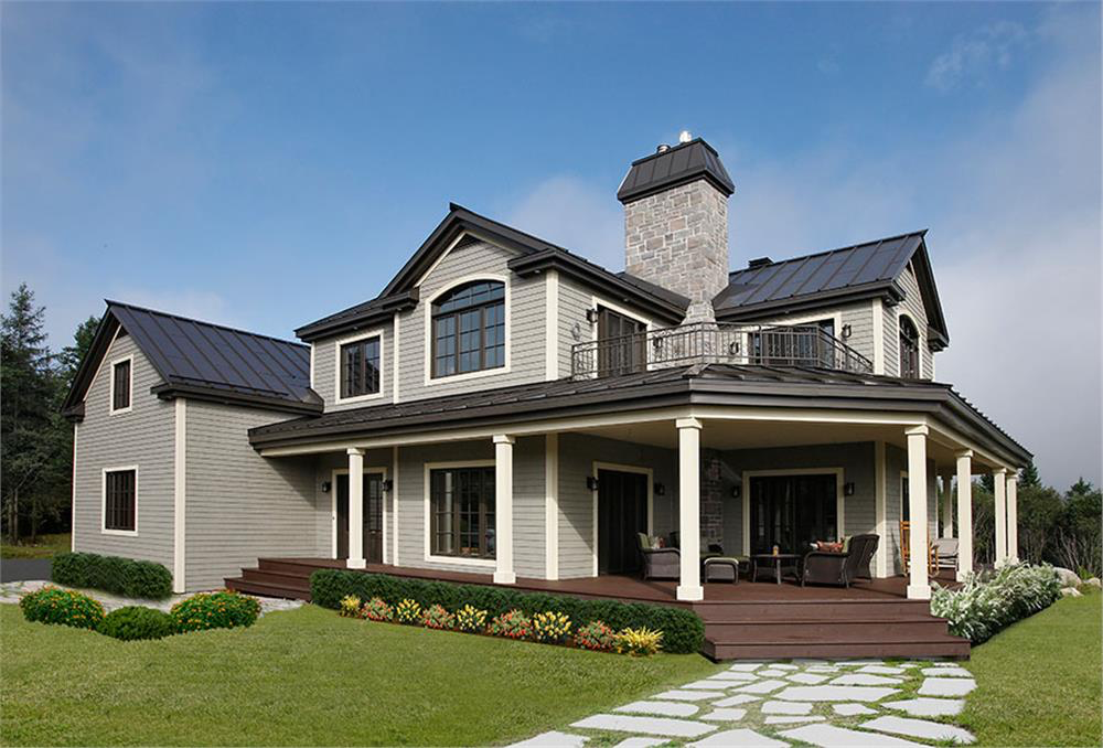 House Plan #126-1294 is right at the average American home size of 2,687 sq. ft.