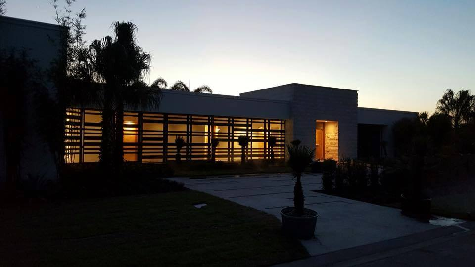Night view of The 2017 New American Home