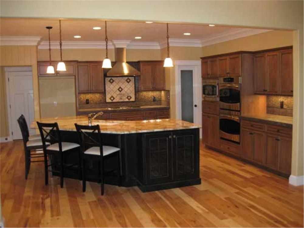 Open plan kitchen in House Plan #141-1038