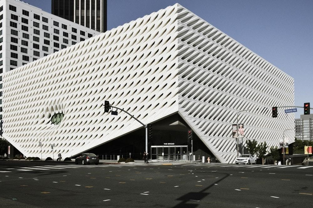 Broad Museum in Los Angeles designed by Diller + Scofidio and commissioned by philanthropists Eli and Edythe Broad