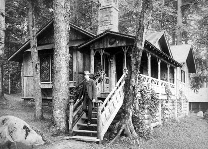 Camp Pine Knot, circa 1890, in the Adirondacks