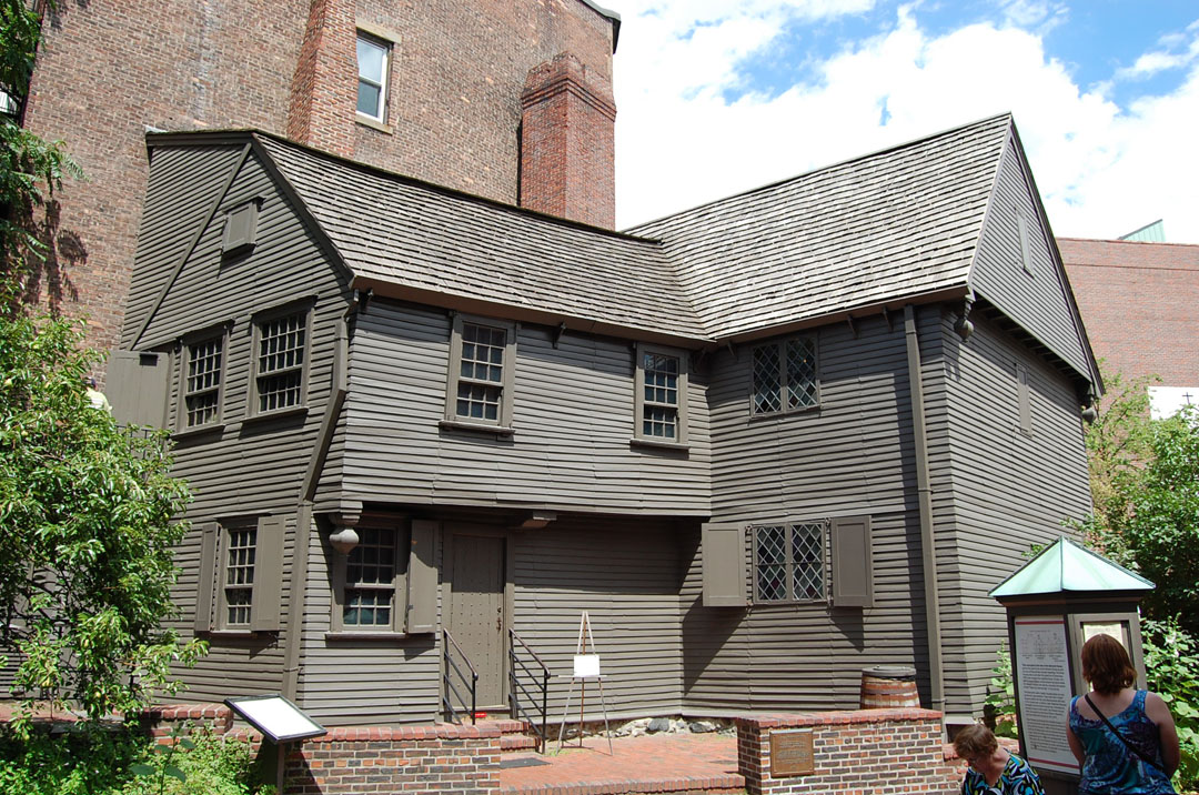 View of rear of Paul Revere House