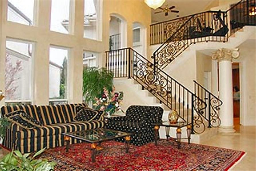 Staircase in 3,924-sq.-ft. House Plan #195-1184