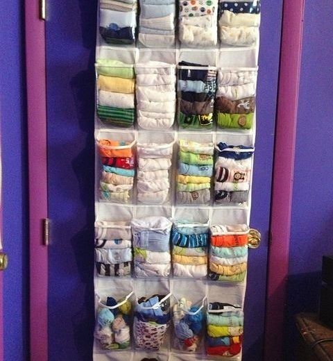 Novel organization for kids' socks, T-shirts, and underwear