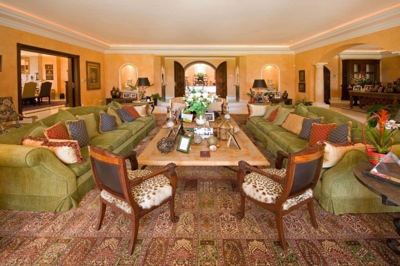 Large living room in La Casa Loriana , Marbella, Spain