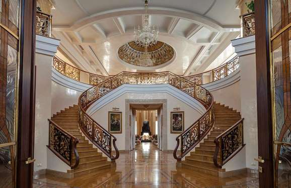 Staircse in palatial mansion located in Moscow, Russia