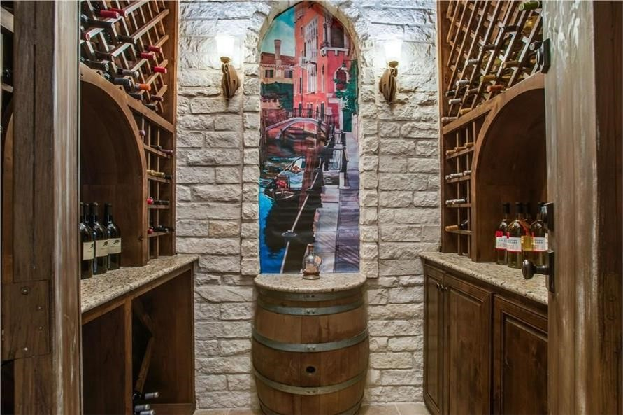Fully stocked wine cellar for special occasions and family nights