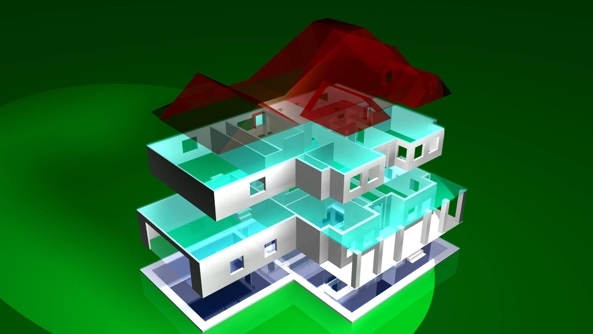 D Printing of House Plans from The Plan CollectionDigital model of house plan     D printing files