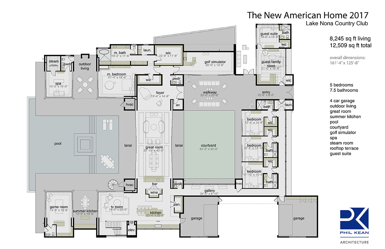 The 2017 new american home s features reflect modern for New american house floor plans