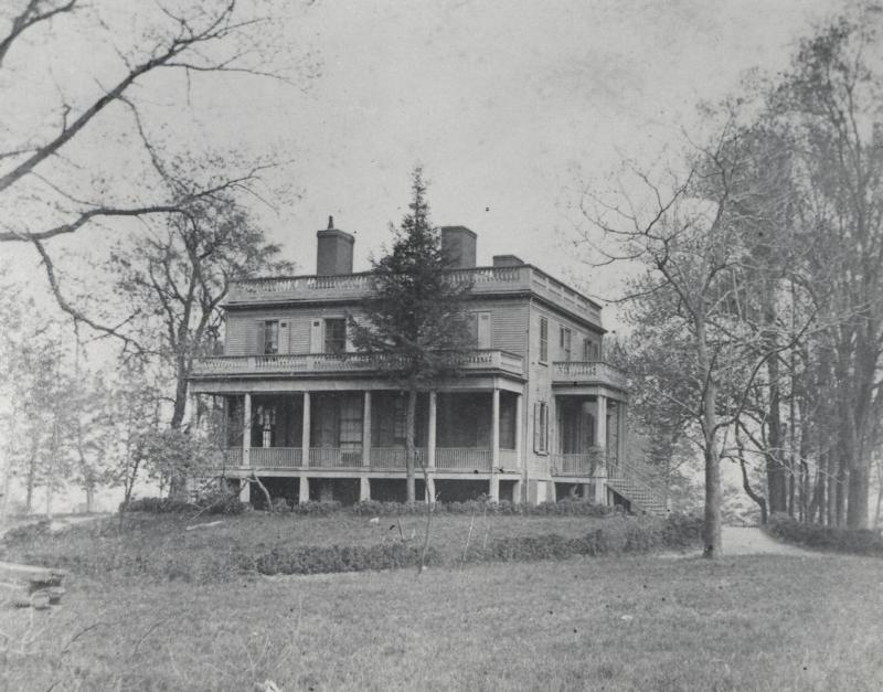Historic photo of Alexander Hamilton's Grange estate home