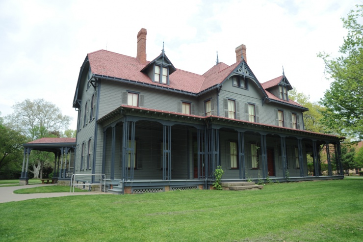 The front porch from which President Garfield campaigned