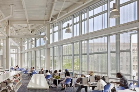 Reading room in Watha T. Daniel/Shaw Library, Washington, DC