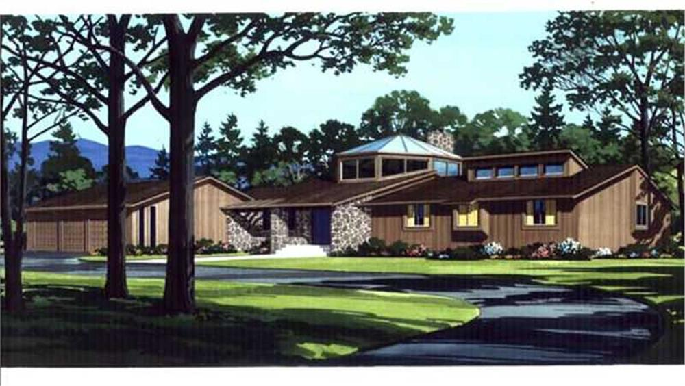 Passive solar home with octagonal sunroom in center