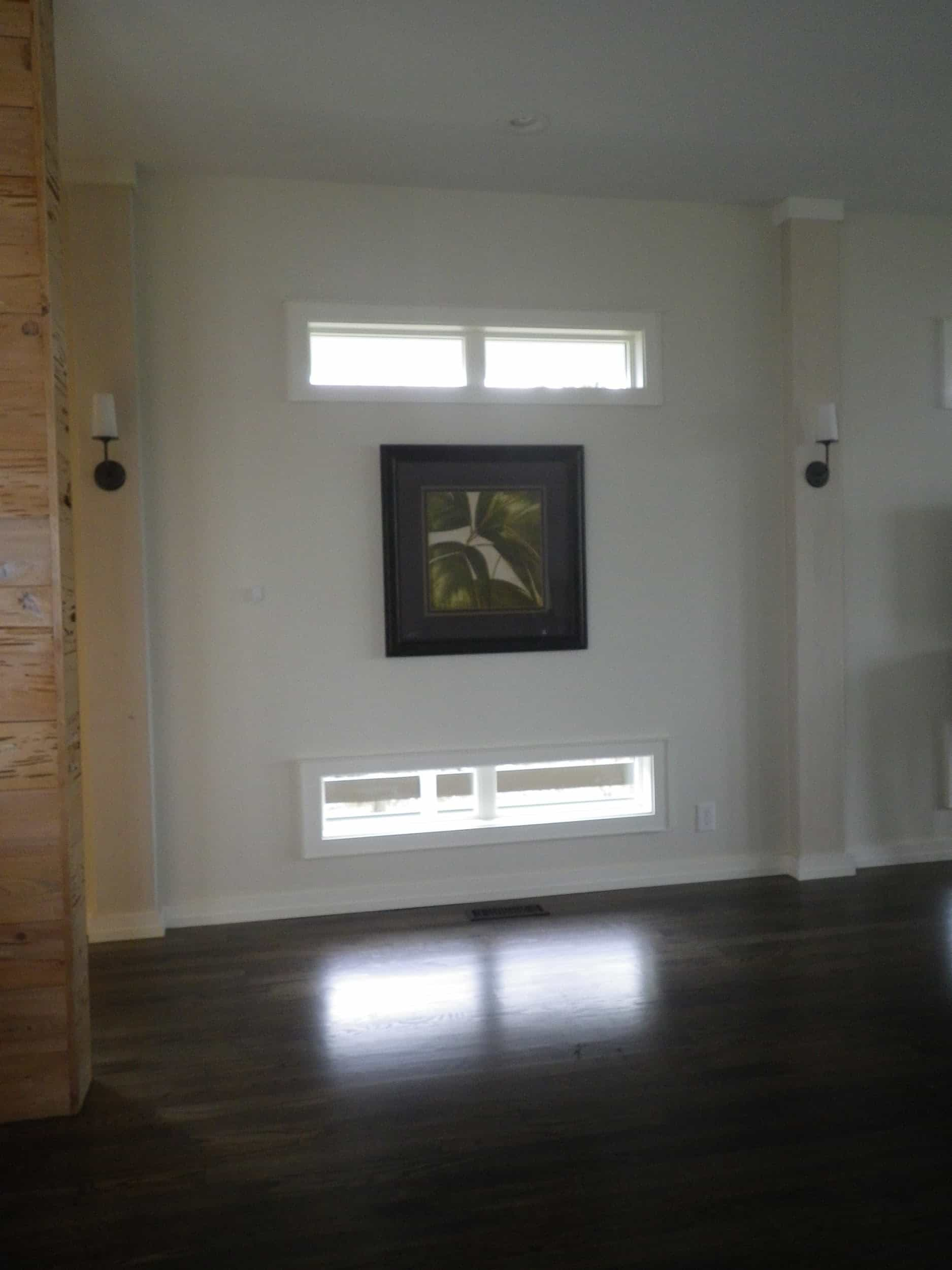 Windows are placed high and low on throughout the house.