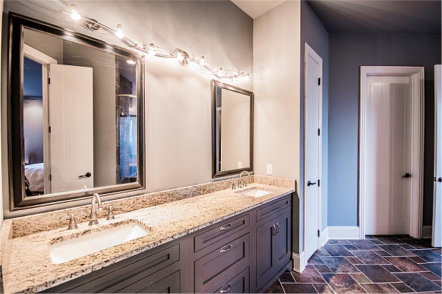 Two-vanity bathroom in House Plan #106-1281