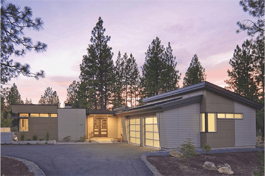 One-story Mid-century Modern style home with 2,331 square feet of living space