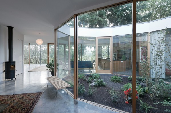 Atrium in a modern Aurora, Oregon, house