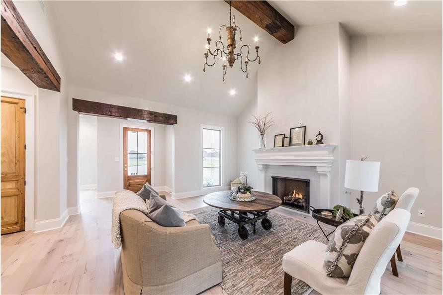 Great Room in a beautifully built and furnished two-story, 2,300-square-foot Traditional style home