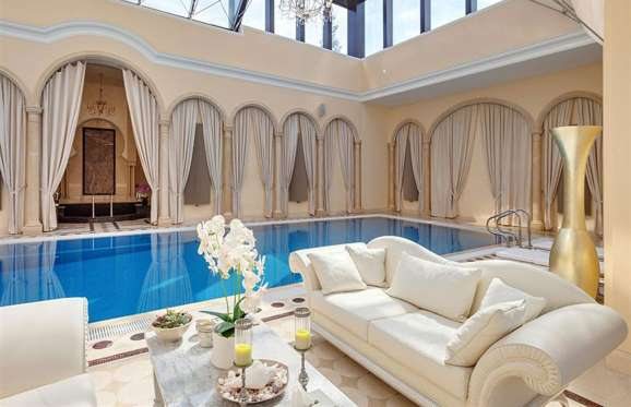Indoor pool in mansion located in Moscow, Russia