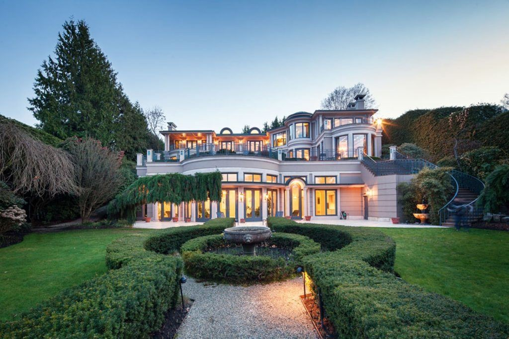 Vancouver mansion built on a 1.3-acre property complete with terraced landscaping