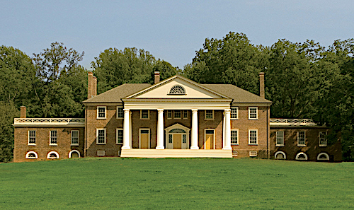 James Madison's Montpelier, with Palladio-inspired portico