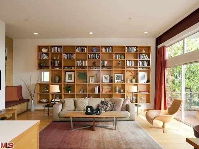 Living room in Barbara Bestor's Panel House in Los Angeles