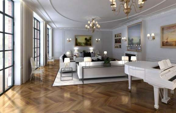 Salon in Rue ddi Bourgogne mansion in Paris