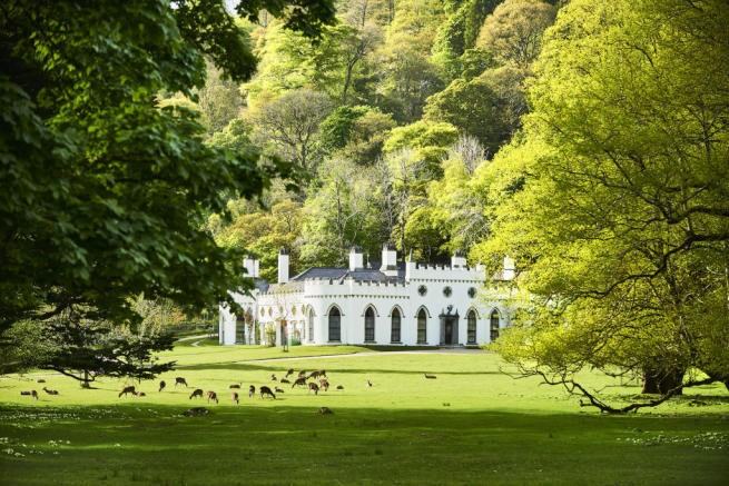 Luggala Estates main residence nestled deep in a secluded Irish valley