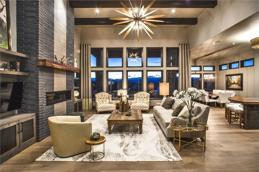 Great Room in a 4-bedroom, 2593-sq.-ft. Contemporary style home