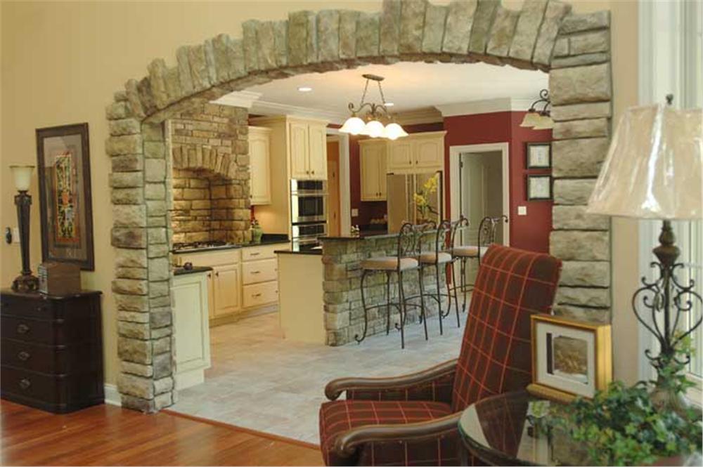 Open floor plan in House Plan # 106-1138