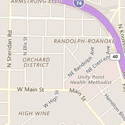 Map of Randolph area in Peoria