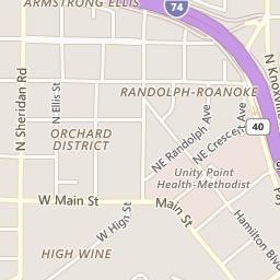 Map of Randolph area in Peoria
