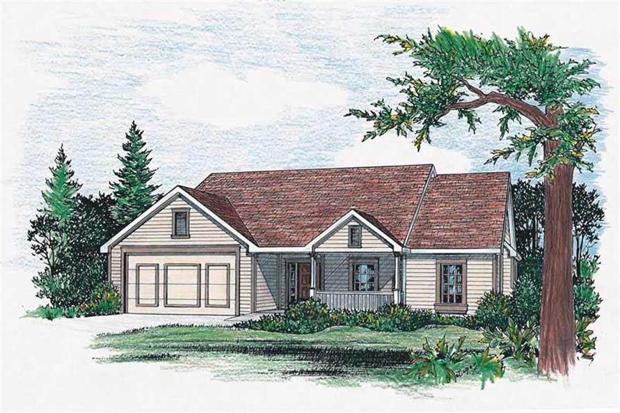 Charming Ranch style home with open floor plan and 3-season porch